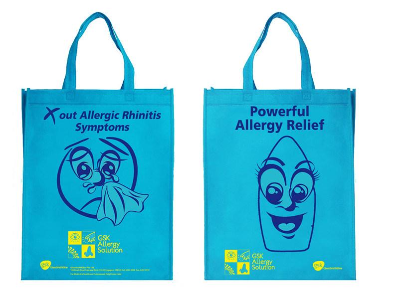 Custom Logo Print Non Woven Shopping Bag/Advertising Bag/Promotion Bag