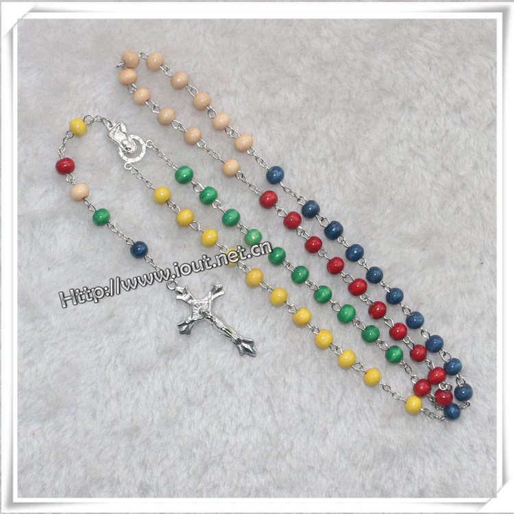 Rosary, Rosaries, Religious Rosary, Wooden Rosary, Glass Rosary, Promotion Gift (IO-cr000)