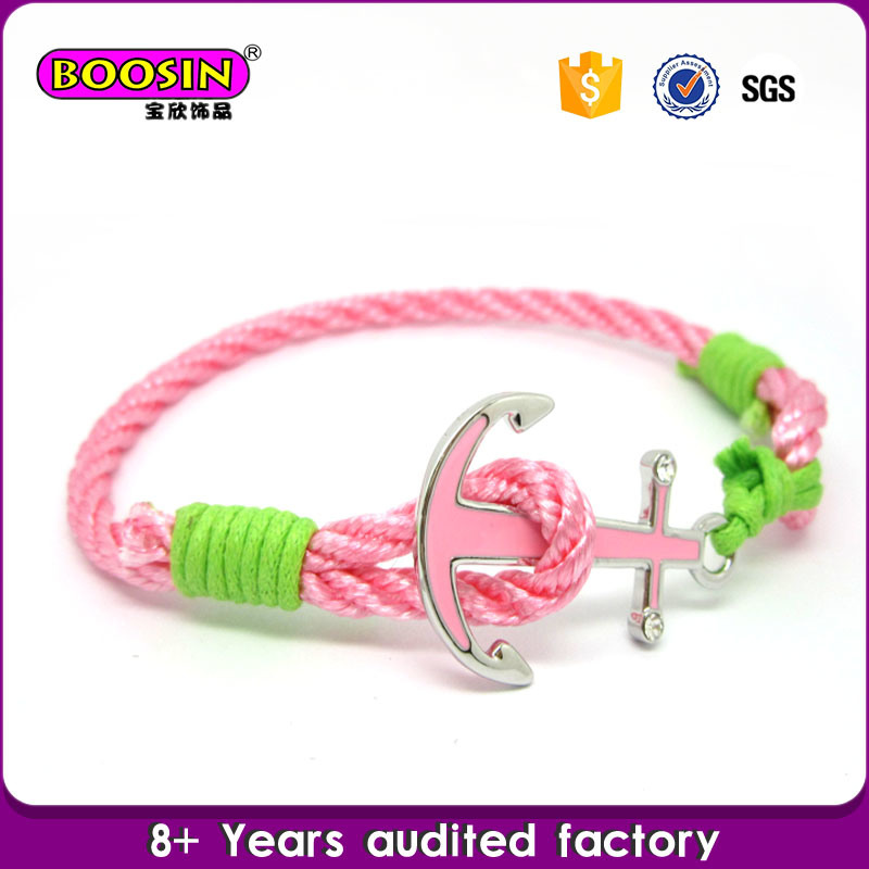 Guangzhou Factory Wholesale Fashion 100% Silver Anchor Bracelet