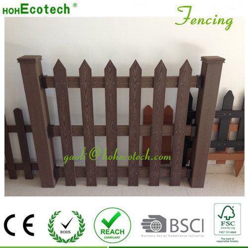 WPC Raling Wood Plastic Composite Landscape Anti UV Garden Fencing