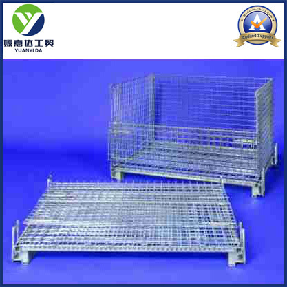 Warehouse Zinc Plated Storage and Logistic Metal Pallet Containers