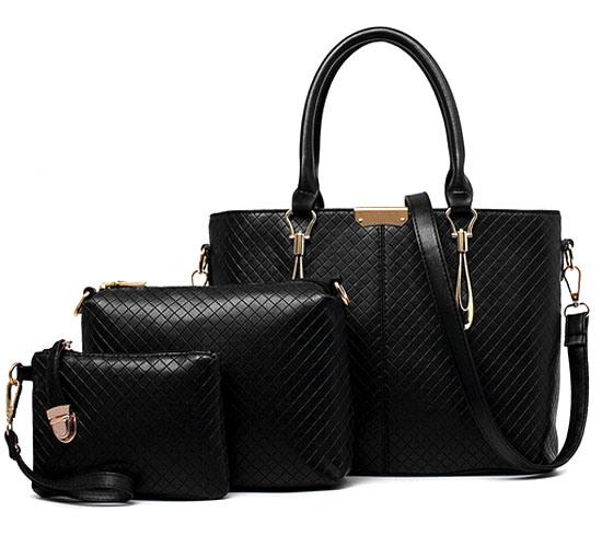 High Quanlity 3PCS Set Bag Leisure Leather Designer Handbag (XM0216)
