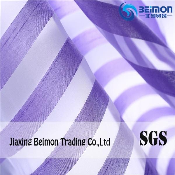 China Supply Popular Stripe Organza Fabric