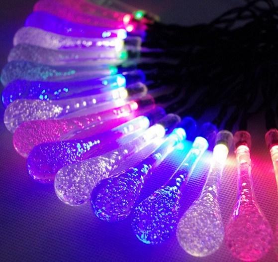 Crystal Waterdrops Solar String Lights