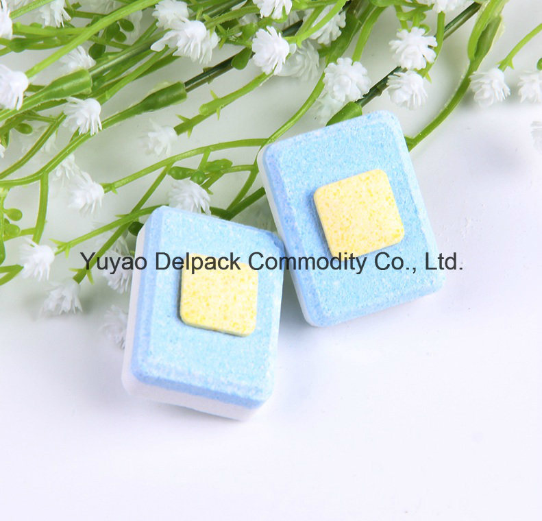 OEM&ODM No Phosphate & Yellow Square Core Dishwasher Detergent Tablets, Auto Dishwasher Detergent Tablets