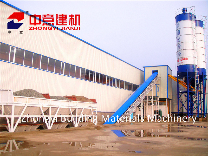 Hzs 35 M3/H Stationary Concrete Batching/Mixing Plant with Sicoma Mixer for Construction