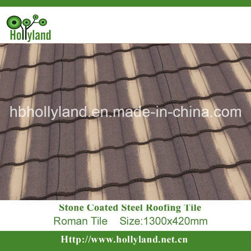 Stone Chips Coated Metal Roof Tile (Roman type)