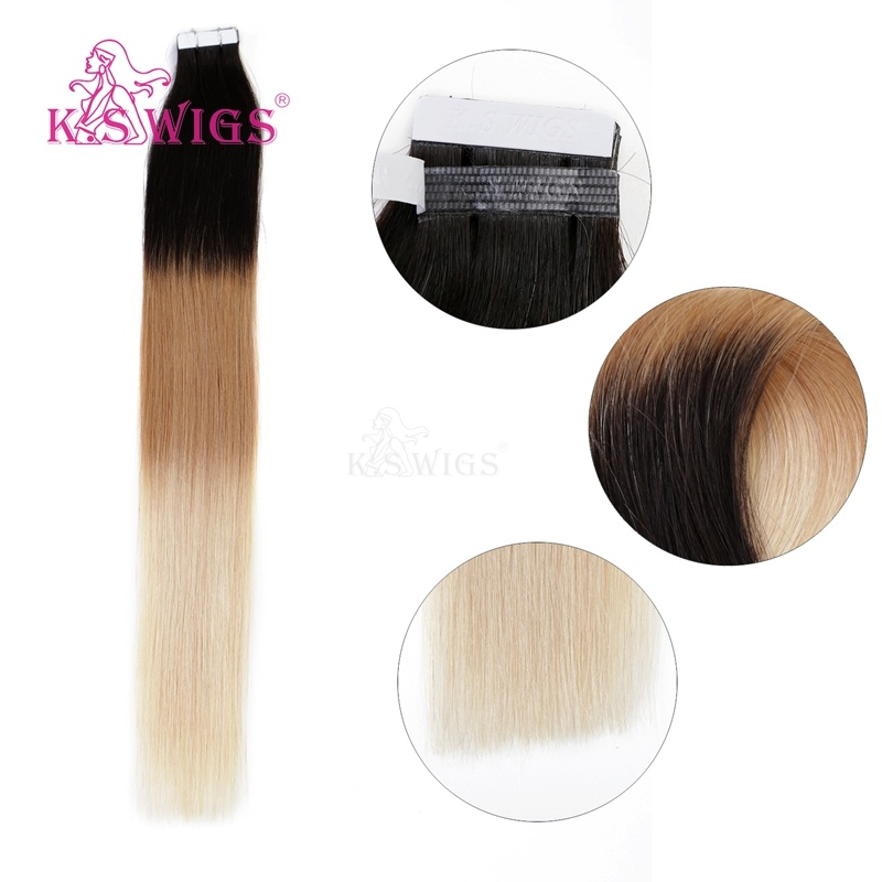 K. S Wigs Factory Wholesale Price Tape Hair 100% Brazilian Human Hair
