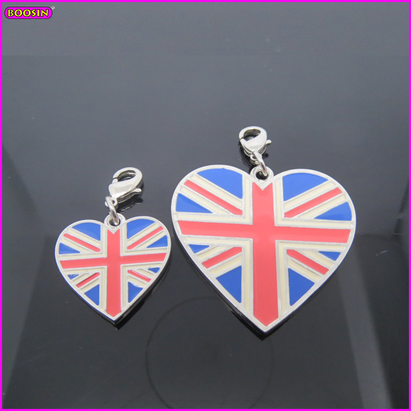 Heart Shape National Flag of The United Kingdom Charm (17230)