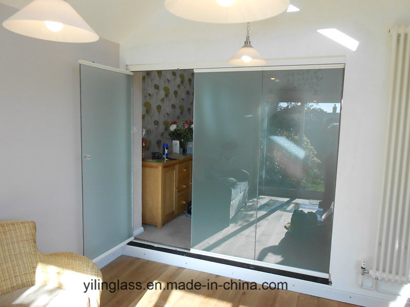 Tempered Frosted Door Glass with Notch or Slot