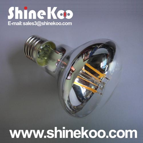 Glass R80 8W LED Filament Lamp (SUN-8WR80)