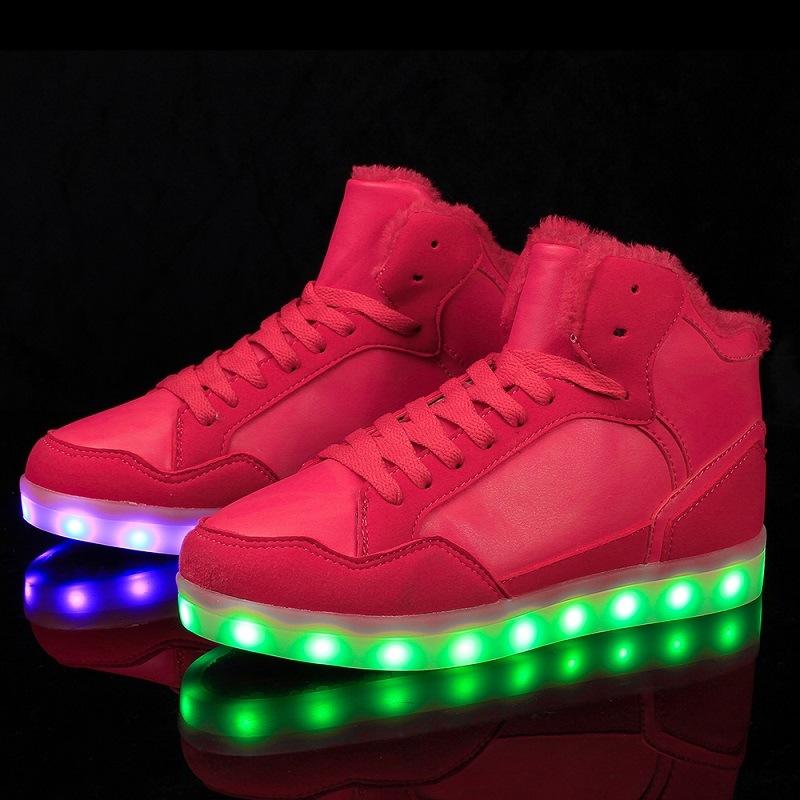 Jinjiang Manufacturer Wholesale Comfortable LED Light up LED Shoes Snow Boots