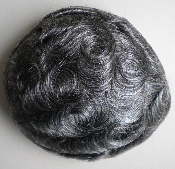 Human Hair Replacement Men′s Toupee