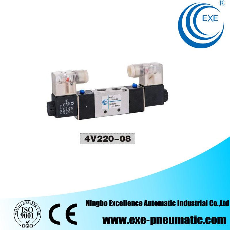 Exe 5 Way Pneumatic Directional Valve Solenoid Valve 4V220-08