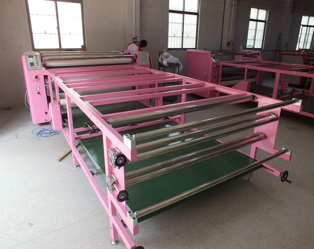 Large Format Fy-Rhtm420*2500 Oil Press Sublimation Printing with Roller Drum Heat Press Machine for Polyester Fabric