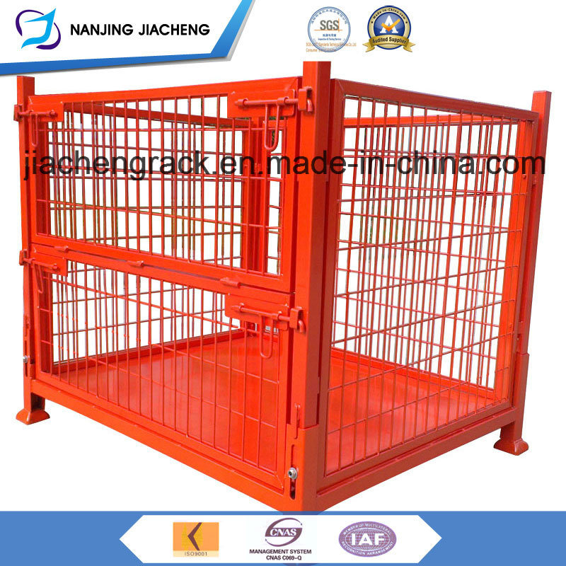 Heavy Duty Qualified China Stackable and Foldable Mesh Pallet Cage