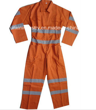 Safety Coverall with High Visible Reflective Tape 037