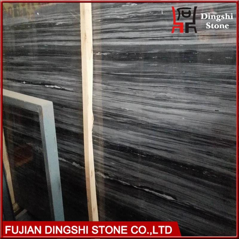 Blue Wood Vein Marble for Hotel Flooring/Wall Cladding Slab