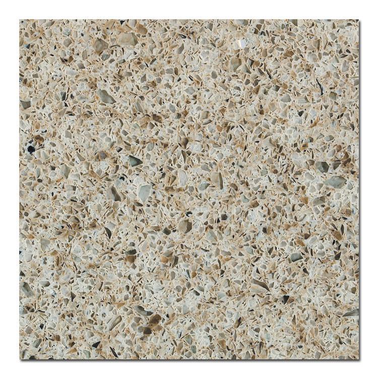 Marble-Look Customized Quartz Island Table-Top