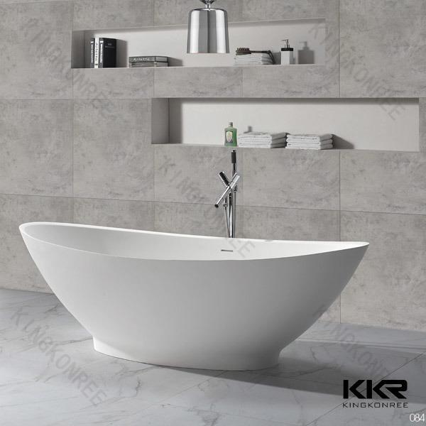 Sanitary Ware Modern Freestanding Baths / Freestanding Stone Bathtub