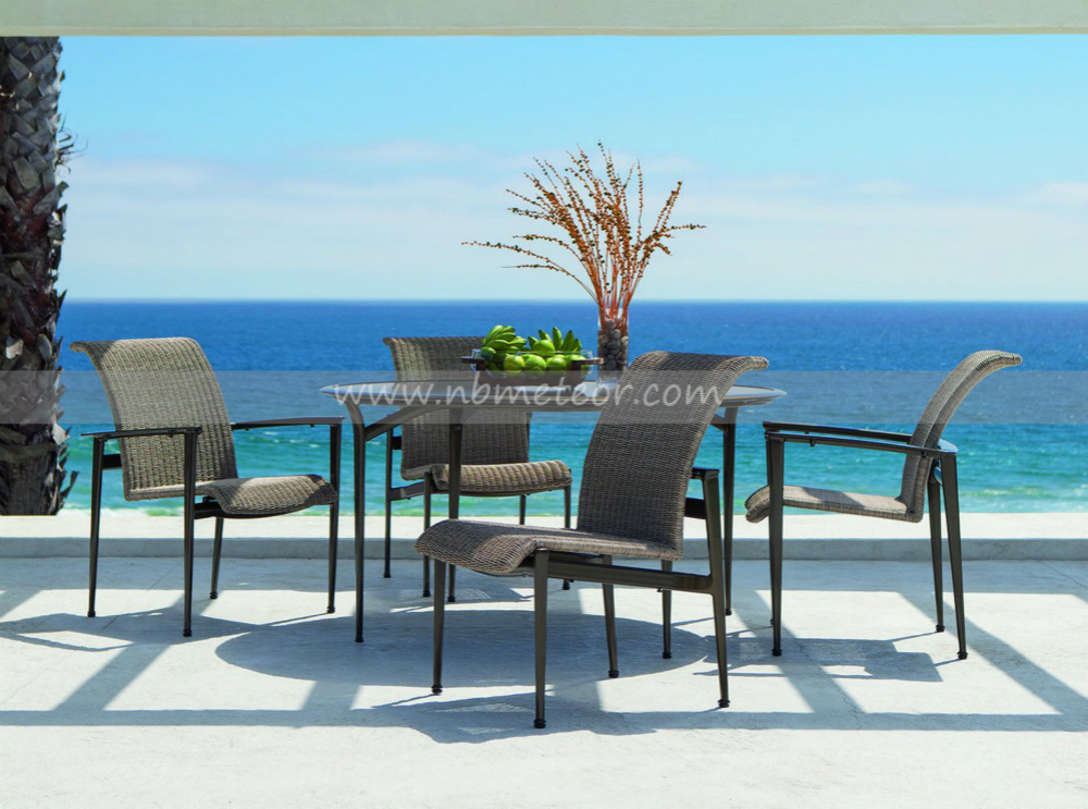Mtc-158 Rattan Dining Table Set Wicker Furniture PE Rattan