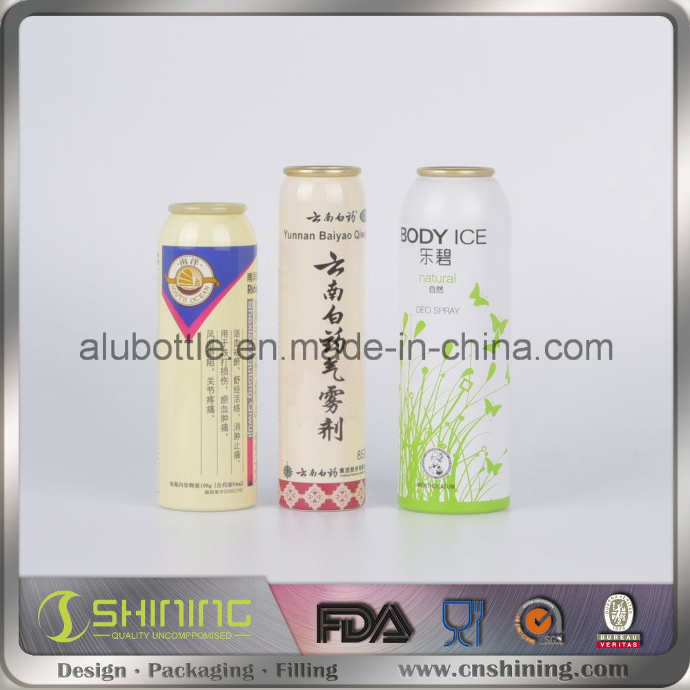 Aluminum Aerosol Spray Can for Medicine
