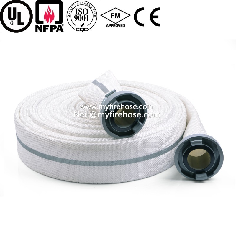 1 Inch PVC Double Jacket Fire Canvas Hose, Flexible Fire Fighting Hose
