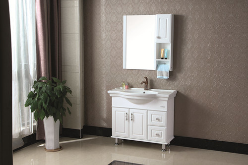 Sanitary Ware Modern Style Oak Wood Bathroom Vanity/Cabinet