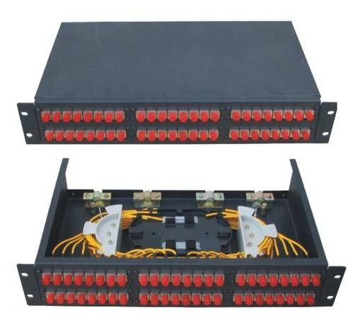 48 FC Rack Mounted Fiber Optic Patch Panel Terminal Box