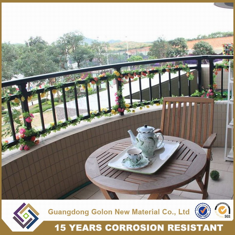 Decorative Exterior Wrought Iron Railing