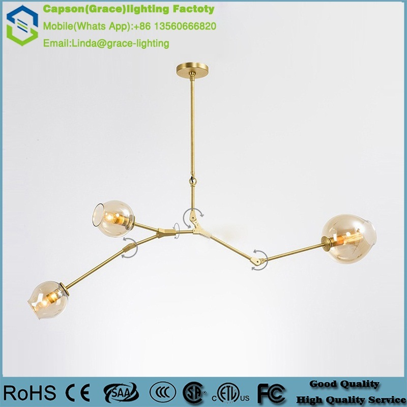 2016 Modern New Design Hot Sale Chandelier with Kirsite Lighting and Decoration Ceiling Lamp