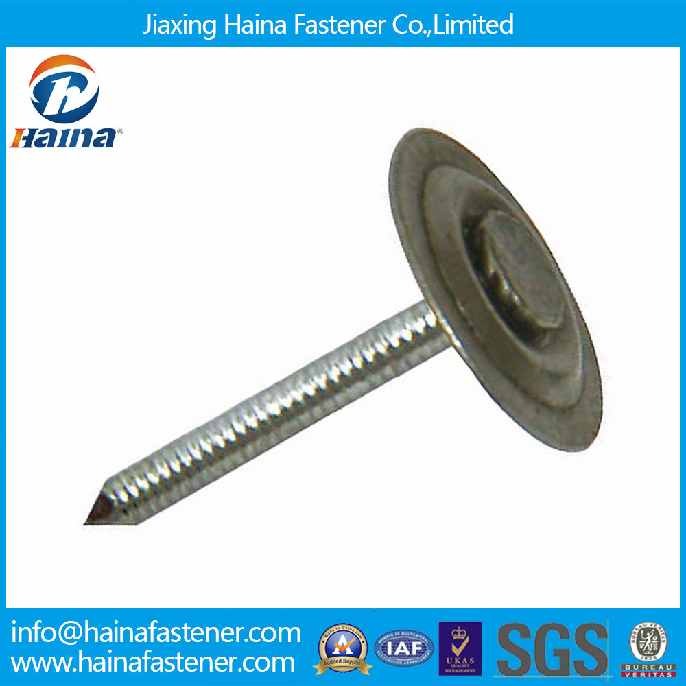 Galvanized Metal Cap Roofing Nail with Umbrella Head