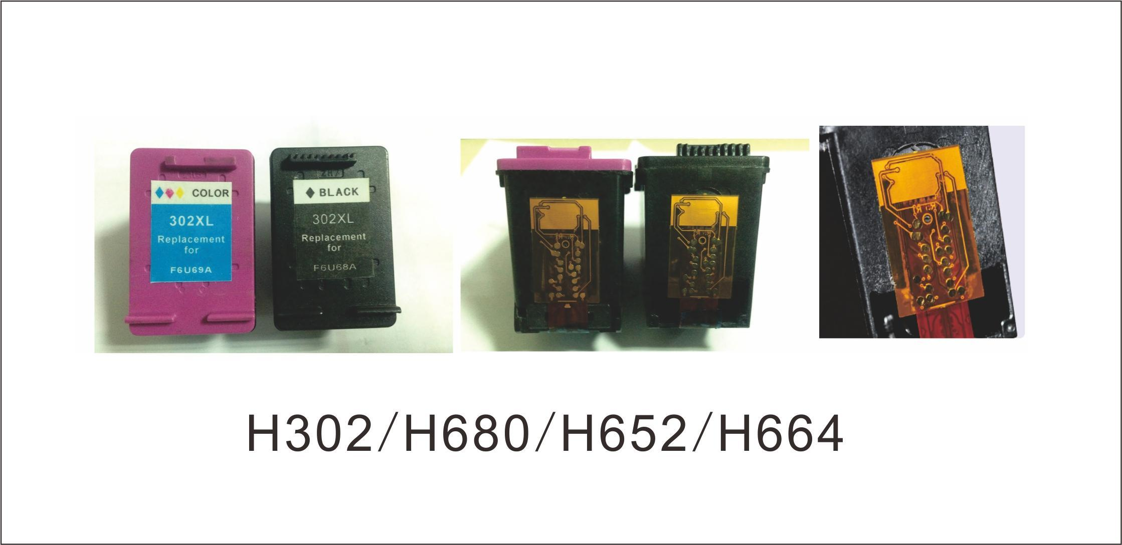 Remanufactured Ink Cartridge 62XL Bk (C2P05A) , 62XL Color (C2P07A) for HP Printer