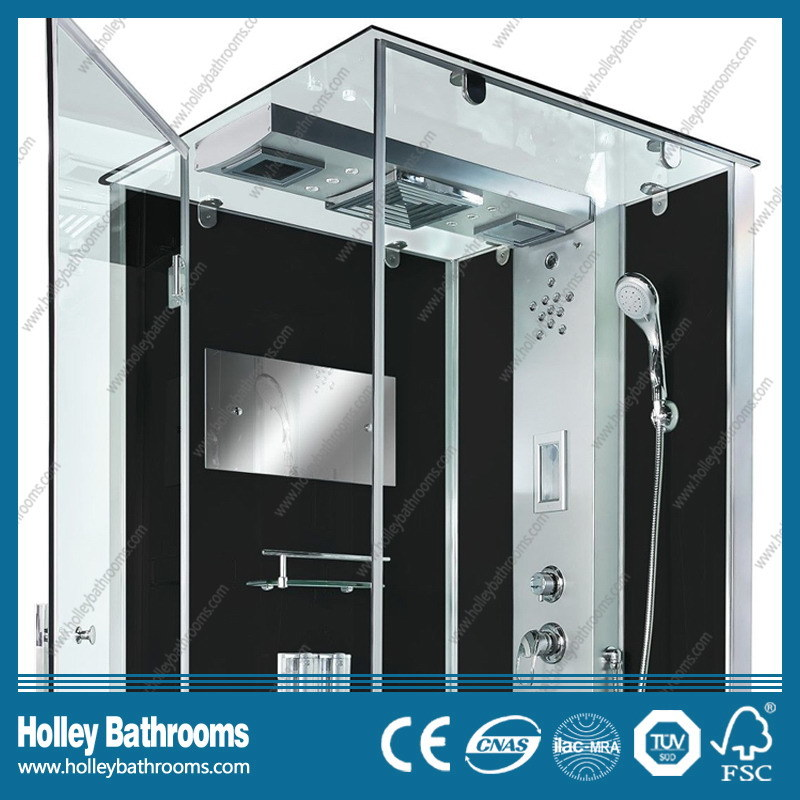 Rectangle Hingle Computer Display Shower Cubicle with Glass Shelf (SR114B)