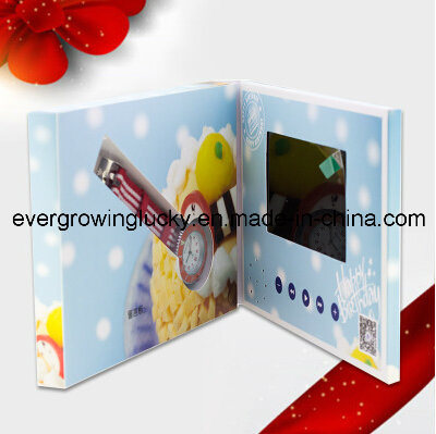 china .inch lcd screen video birthday card with custom video, Birthday card