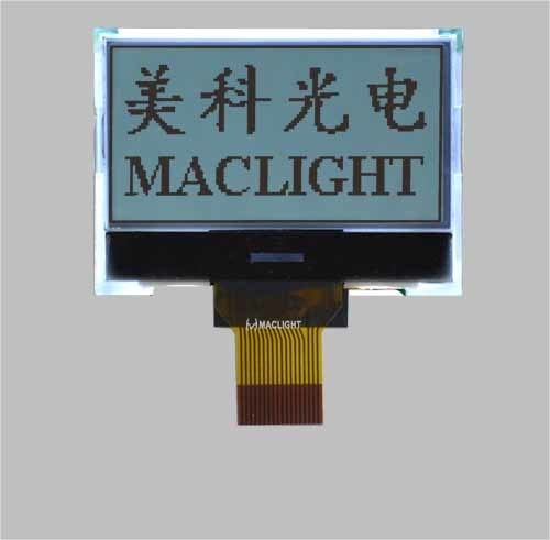 128X64 Dots Graphic Cog Mono LCD Module Display with Spi Interface