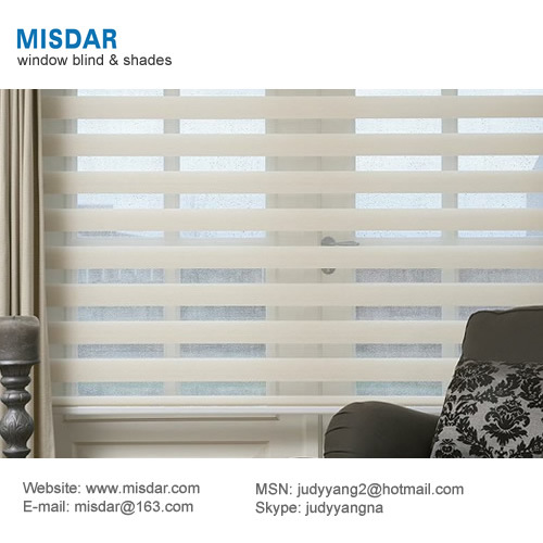 Motorized Zebra Blind, Electric Zebra Roller Blind, Automation Zebra Blind