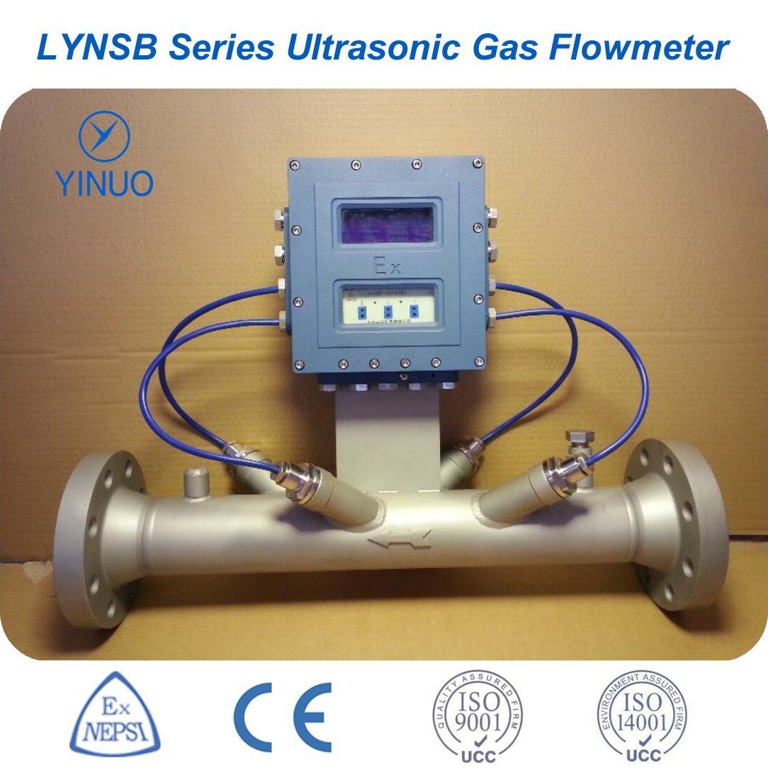 Ultrasonic Gas Flow Meter for High or Low Pressure