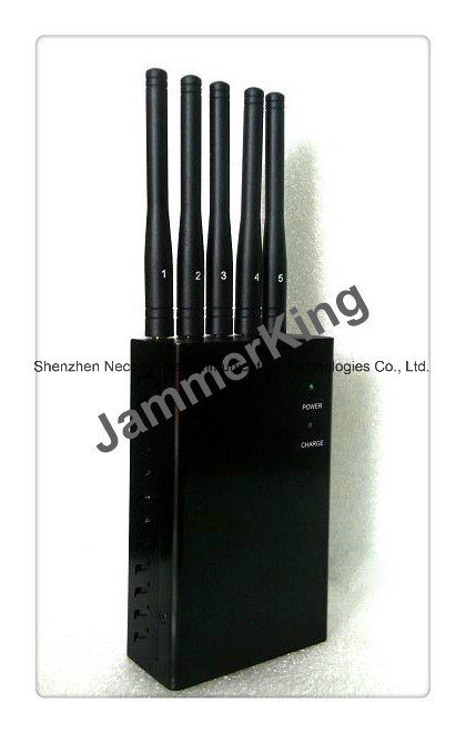 China 3W GSM, 3G, 4G Lte Cell Phone Jammer/Blocker up to 20meters; Handheld 5 Antenna Signal Jammer, Pocket Sized Jammer Model - China GSM Jammer, 3G Jammer