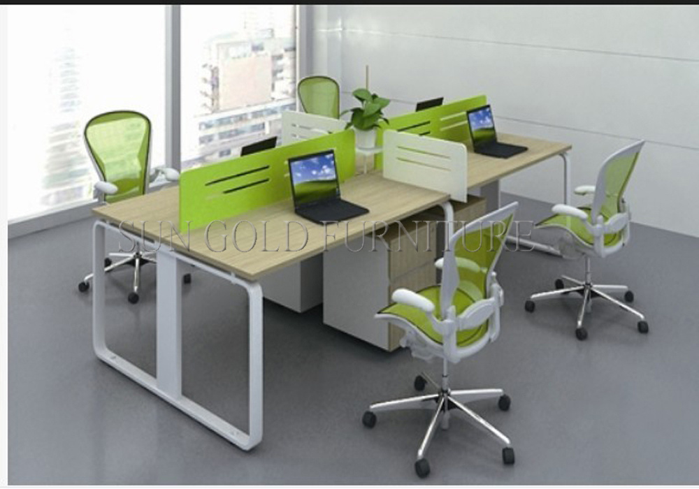 China 4 Person Melamine Staff DeskParticle Office TableOffice