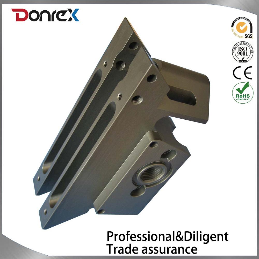 Custom Aluminum CNC Machining Part with Black Anodize