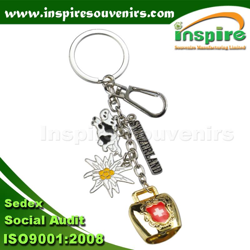 Switzerland Charm Keychain for Souvenir Gift (KC826)