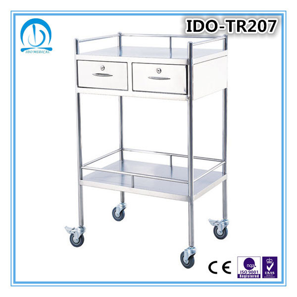 Ido-Tr207 Stainless Steel Hospital Trolley