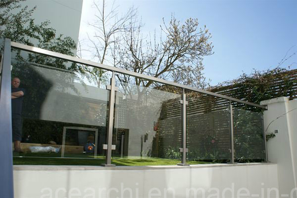 Stainless Steel Balcony Glass Railing/Glass/Beclony Fence Balustrade with American Standard