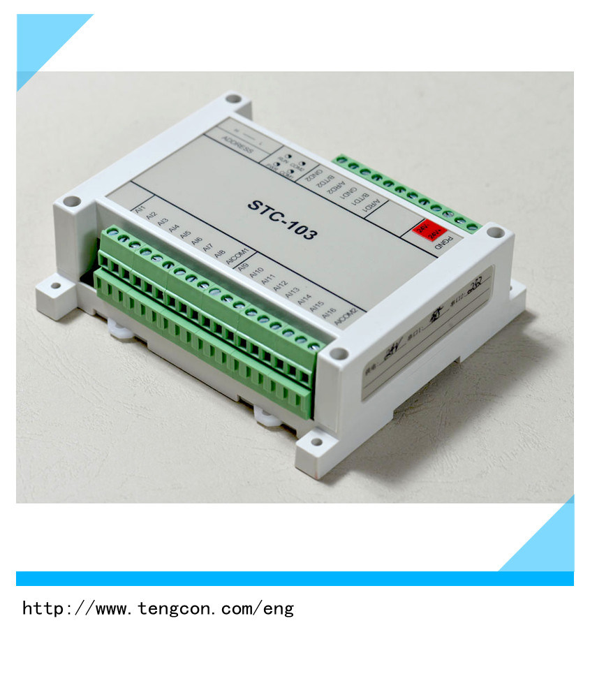 Modbus RTU Tengcon Stc-103 with 16analog Input