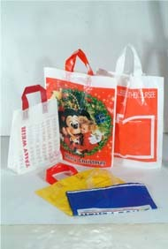 HDPE/LDPE Color Printing Soft Loop Handle Plastic Shopping Bag