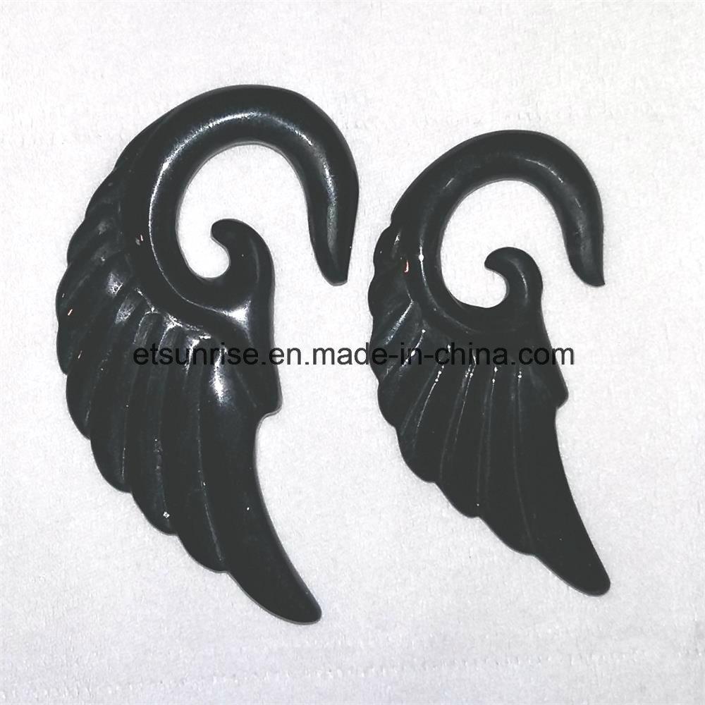 Semi Precious Stone Black Obsidian Flower Earring