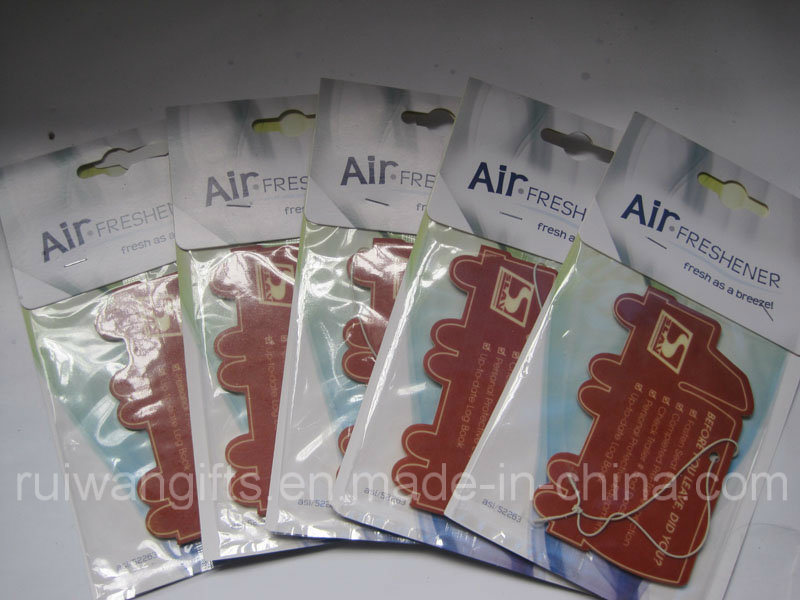 Printed Paper Car Air Freshener Promotion Gift