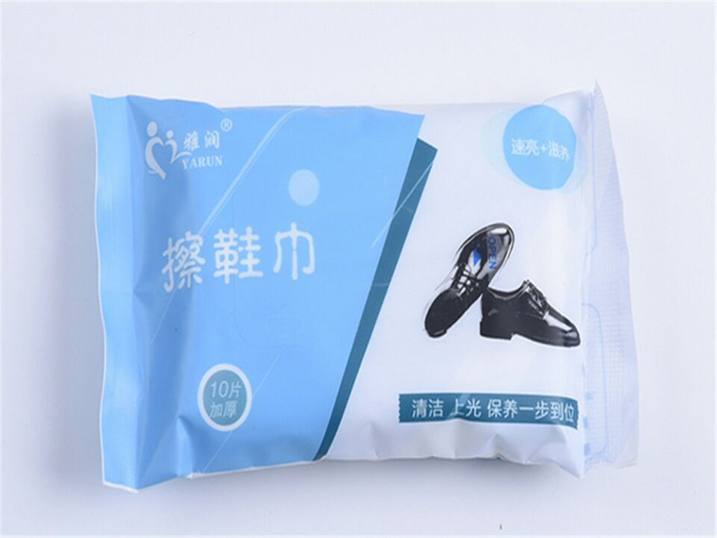 10 PCS Leather Shoea and Bag Care and Cleaning Disposable Wet Wipes Single Packing