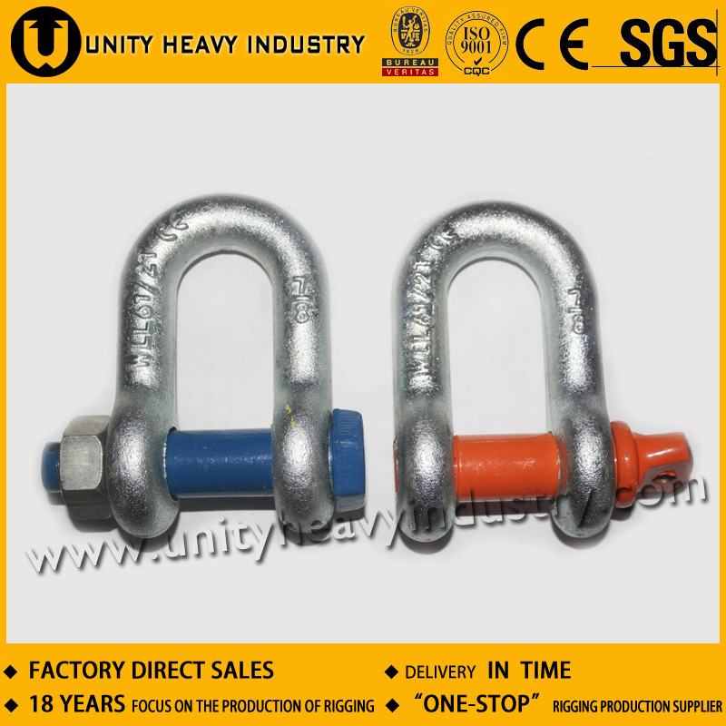 G 2150 U. S Bolt Type Safety Drop Forged Anchor Shackle